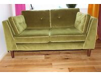 sofology Cricket sofa 2 seater Emerald Green Velvet