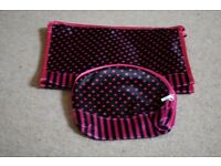 Scotts of Stow black and pink make up bag and toiletry bag. Brand new, unwanted gift.