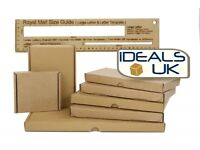 Royal Mail Large Letter Cardboard Postal Mailing PiP Boxes-Mini A6 DL A5 A4-RM48 20% VAT INCLUDED