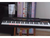 CASIO CTK520L LIGHTING 61KEYS KEYBOARDBOX/INSTRUCTION/POWERADAPTOR