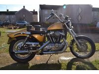 Vintage Harley-Davidson Ironhead Sportster ,1983, Gold Flake Paint. running project