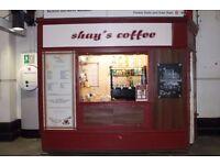 Coffee kiosk inside Underground TFL Plaistow station £12,000