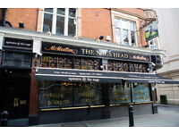 Full Time Sous Chef - Up to £10.00 per hour - Nag's Head - Covent Garden, London
