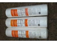3 ROLLS OF POLYSTYRENE (WARMLITE) WALLPAPER,FOR ADDED WARMTH, AND TO COVER THE UNEVEN AREAS