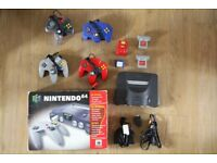 Nintendo 64 Grey Console (PAL) Great Condition with controllers + more extras