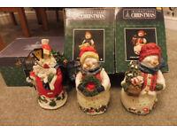 3 fiber optic christmas figures