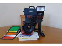 Canon EOS RT Film body c/w lens/ flash unit & Accessories