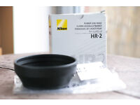 Genuine Nikon HR 2 Hood; Boxed and in mint condition.