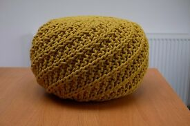 Habitat knitted round pouf