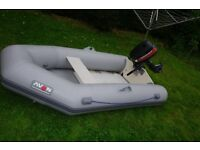 Avon inflatable boat and 4HP Mariner outboard engine, Fishing, sailing, tender