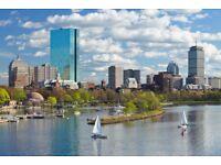 2 return flight tickets London - Boston 27.OCT - 08.NOV