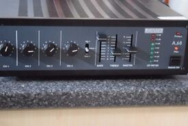 ADASTRA A-68 AMP 100W 4 CHANNELS 2 MIC IN CAN BE SEEN WORKING
