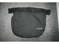 Oyster car seat APRON foot cover - black *can post*