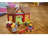 Large ELC HappyLand toys bundle (Fire station, Pre-school, Airport, Car Wash, Tea room sets + more!)