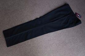 Brand New NEXT Tuxedo Suit Trousers Mens 36R Black RRP: £45