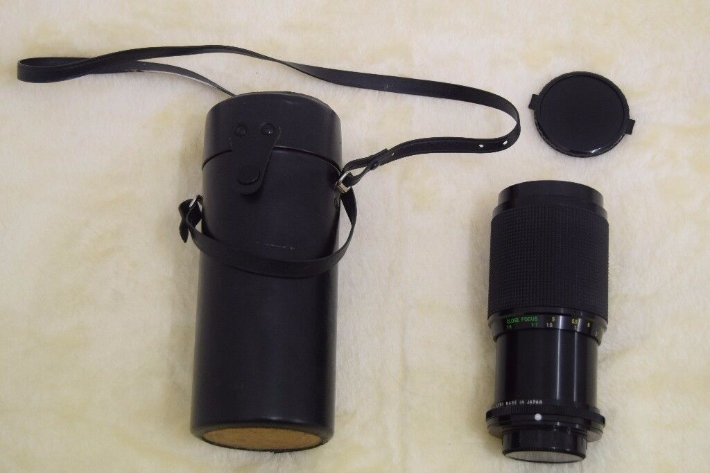 Camera lens offered for sale. With case and lens caps. Buyer to collect from Fenham.