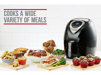 Andrew James Digital Air Fryer in Black, Healthy Oil Free Low Fat Cooking, 3.2L