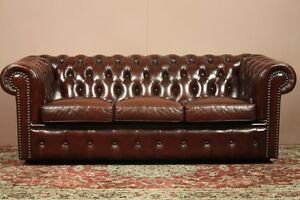 Chesterfield 3-Seater Sofas X2 / Matching Leather Batch RARE Gaven Gold Coast City Preview