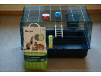 Rat cage with accessories