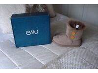 emu valery lo boots in mushroom still in box