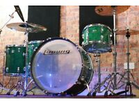 Ludwig Vistalite 45th Anniversary Green Sparkle - LIMITED EDITION