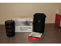 Canon EF 17-55mm f2.8 IS USM Lens + Accessories