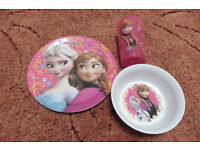 disney Frozen plate, bowl/dish and cup