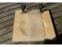 herb chopping board and double rocking blade