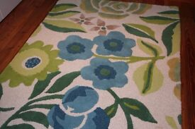 Artisan Floral 100% Wool Rug - from Next, Like New