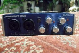 Recording Equipment (Mic stand, PreSonus M7 Condenser Microphone, PreSonus Audiobox Interface)