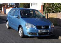 VW POLO 2007 1.2 cornflower blue 5dr £1,600
