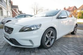 Volvo V40 R Design White, excellent condition, low mileage, very clean car