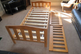 Childs' solid antique pine bed frame from Mothercare
