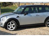 Mini Cooper Clubman diesel estate car, silver, very cheap to run, low mileage