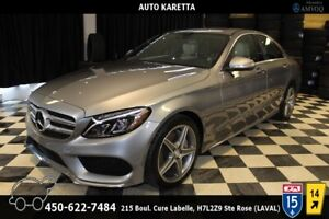 2015 Mercedes-Benz C-Class C300 4MATIC SPORT AMG, LED LIGHT