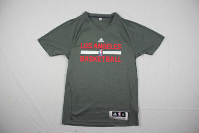 NEW adidas Los Angeles Clippers - Gray Poly Short Sleeve Shirt (Multiple Sizes)
