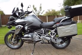 BMW R1200GS TE First registed 16/11/2013 MOT 6/9/18 BMW motorrad warranty 11 months