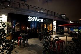 28West: Waitress / Waiter / Waiting staff wanted for trendy riverside bar and kitchen