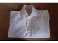 """T.M.Lewin Shirt, Pink with Blue Check, collar size 15"""""""