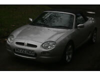 MGF 1.8i VVC, LONG MOT, LOW MILEAGE,HALF LEATHER SEATS, EX COND, FREE WARRANTY