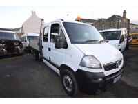 VAUXHALL MOVANO 3500CDTI DOUBLE CAB TIPPER - 06-REG