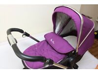 SILVER CROSS PIONEER DAMSON PRAM, PUSHCHAIR AND CAR SEAT