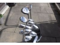 A VERY NICE SET OF GOLF CLUBS & STAND BAG IN V/GOOD CONDITION *CALLAWAY DRIVER*
