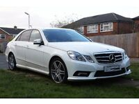 Mercedes Benz E350 (factory white and Red Leather) Full AMG Spec