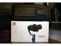 Brand New Zhiyun Tech Crane 2 3-Axis Handheld Stabilizer Gimbal with Follow focus newest model