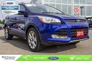 2015 Ford Escape Titanium PANO ROOF NAV LTHR FORD CERTIFIED