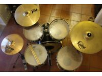 Drum Kit Hohner Percussion Mapex M Birch Snare Sabian Paiste Cymbals
