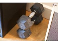 18 kg pair of dumbbells - good quality