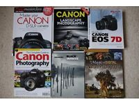 Canon publications plus various photography books in pristine condition