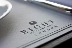 Receptionist - Eight Members Club